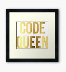 CODE QUEEN - Programming - HaxByte Framed Print