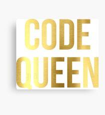 CODE QUEEN - Programming - HaxByte Canvas Print