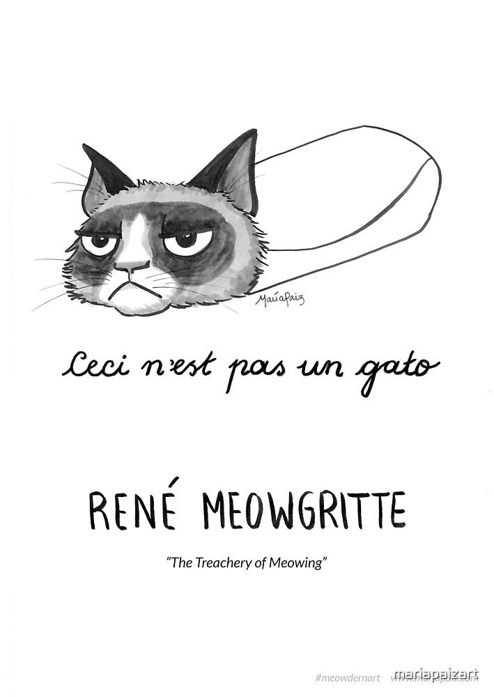 #meowdernart - René Meowgritte by mariapaizart