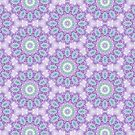 Lavender and Emerald Mandala Pattern by Kelly Dietrich