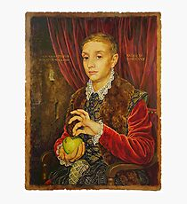 Boy With Apple Photographic Print