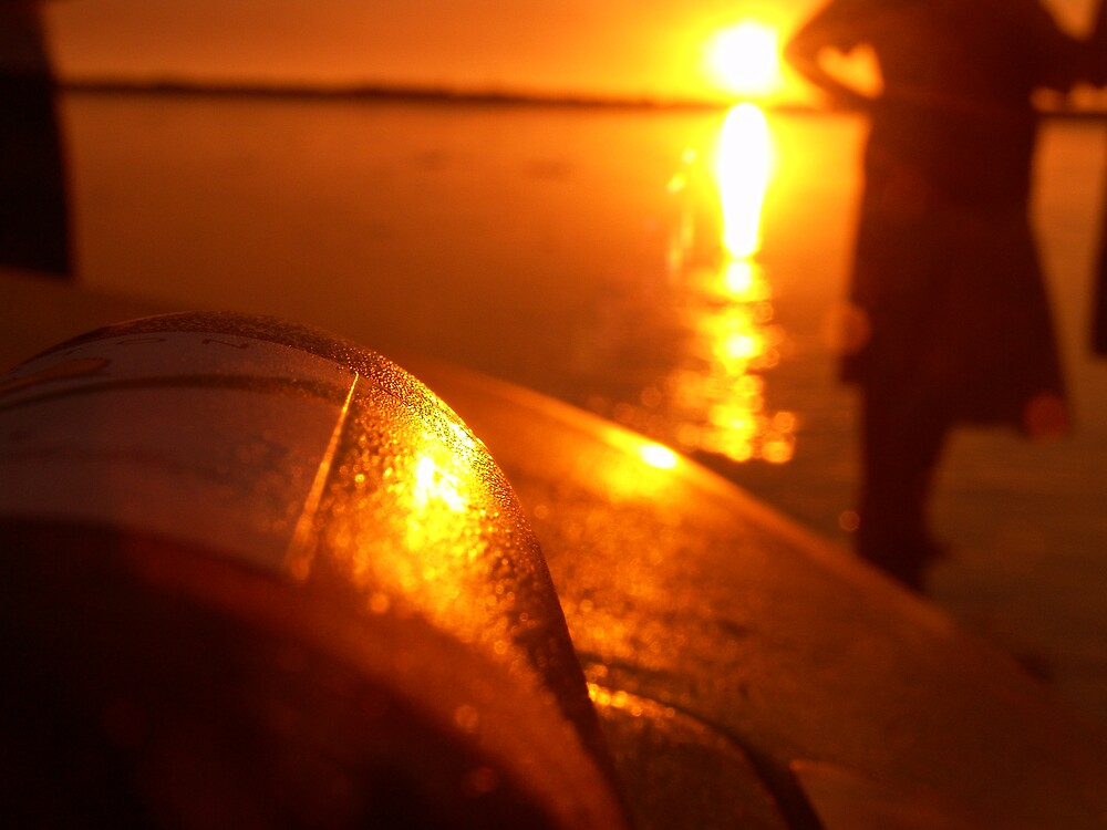 Chilled wine by the sunset by Wojtek