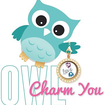 Owl Charm You Teal Owl by msb1016
