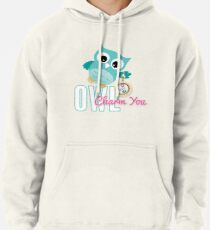 Owl Charm You Teal Owl Pullover Hoodie