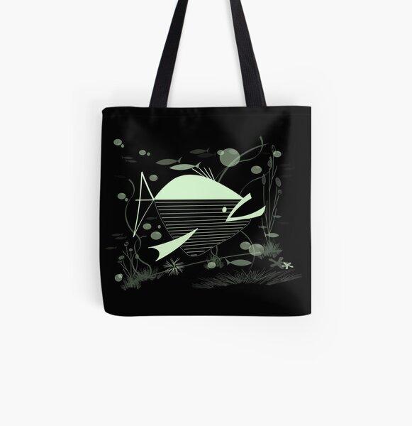 Atomic Fish #2 All Over Print Tote Bag