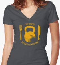 Brigitte Fitted V-Neck T-Shirt