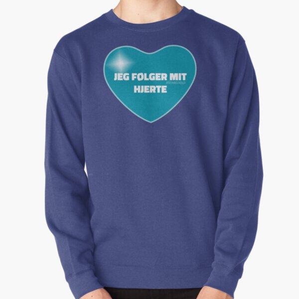 Jeg følger mit hjerte (Blue) Pullover Sweatshirt