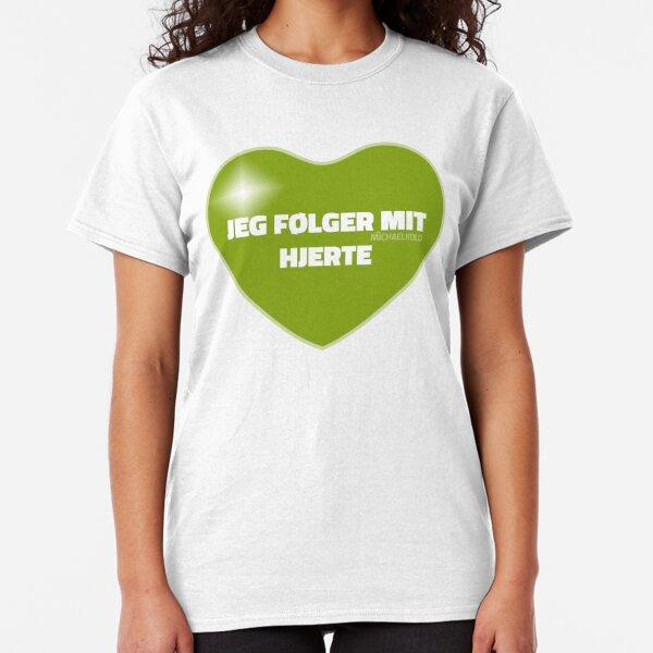 Jeg følger mit hjerte (Green) Classic T-Shirt