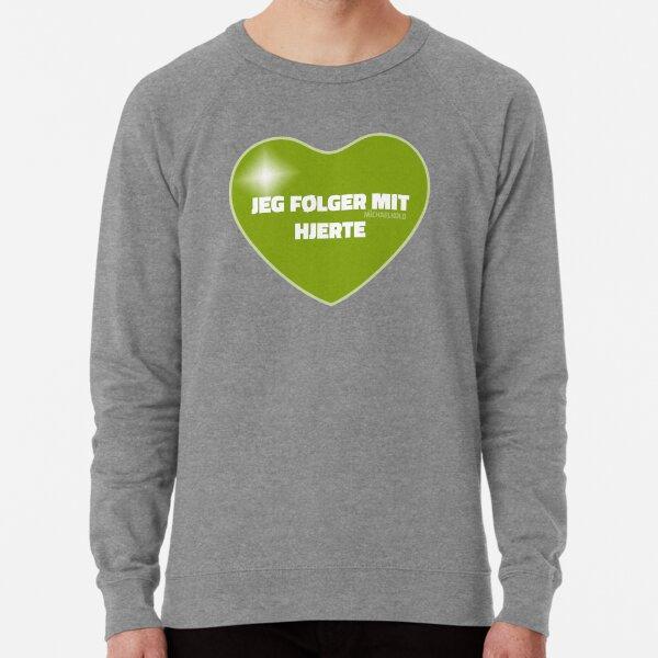 Jeg følger mit hjerte (Green) Lightweight Sweatshirt