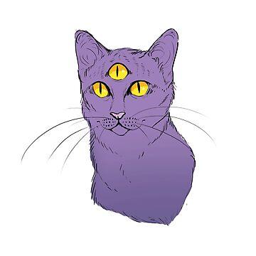 Three Eyed Cat by NomadicPlanet