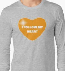 I Follow My Heart (Orange) Long Sleeve T-Shirt
