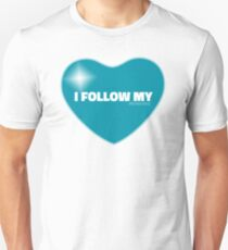 I Follow My ❤ (Blue) Unisex T-Shirt