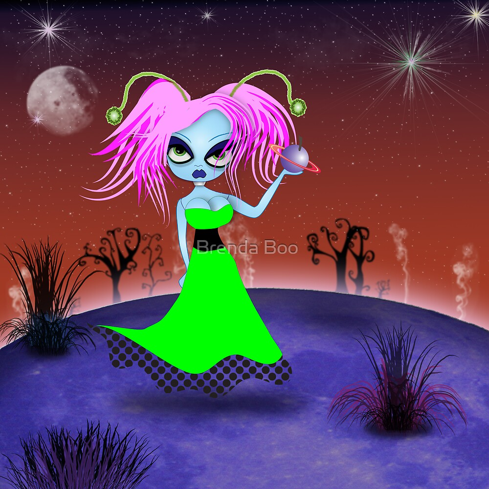 Mindy the sexy martian by Brenda Boo