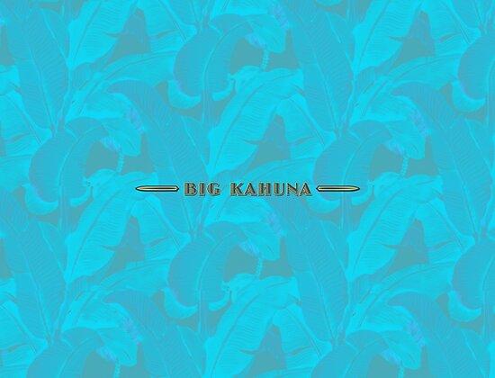 Big Kahuna on Blue Leaves by Frank Schuster