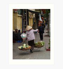 vegetables over the shoulder : 535 views Art Print