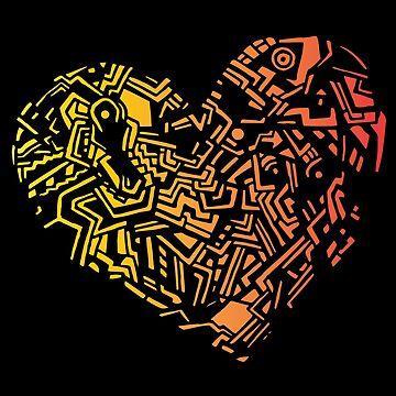 Geometric Heart_Colourful by lisa-richmond