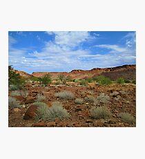 Driving through the Kalahari Desert, Namibia Photographic Print