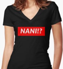 NANI!? Women's Fitted V-Neck T-Shirt