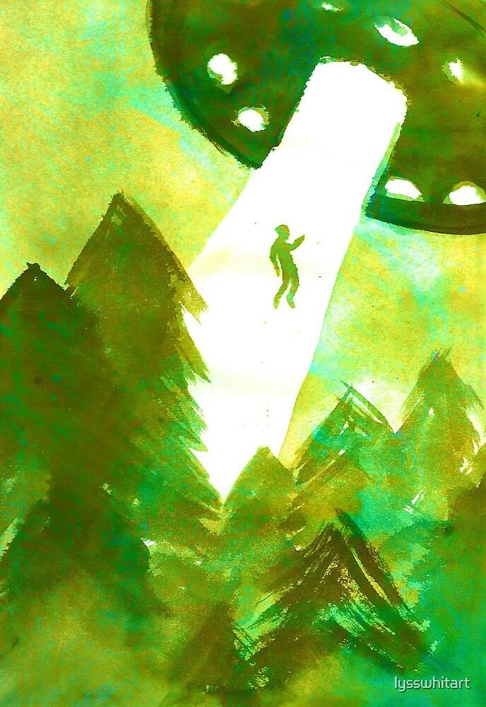 Alien Abduction (green) by lysswhitart