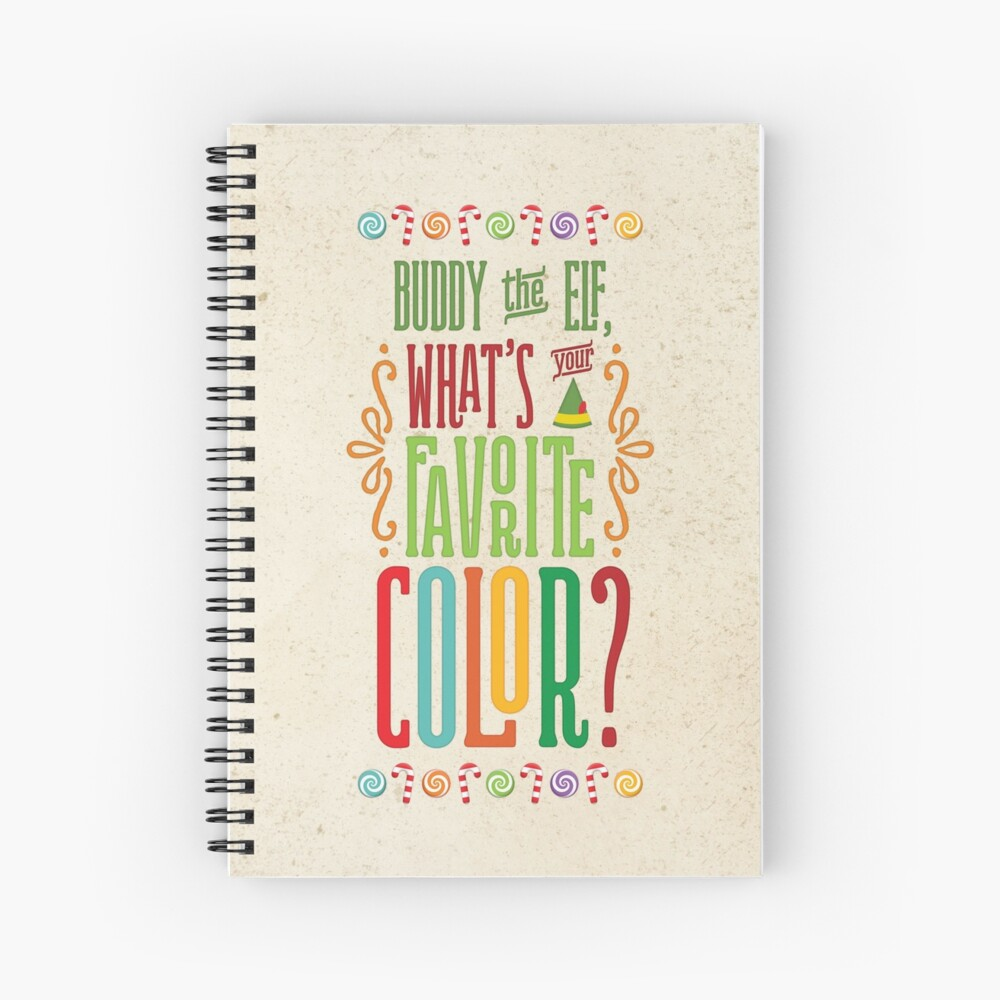 Buddy the Elf - Was ist deine Lieblingsfarbe? Spiralblock