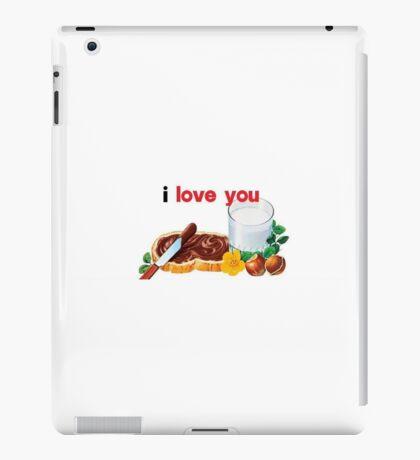 Nutella I Love You iPad Case/Skin