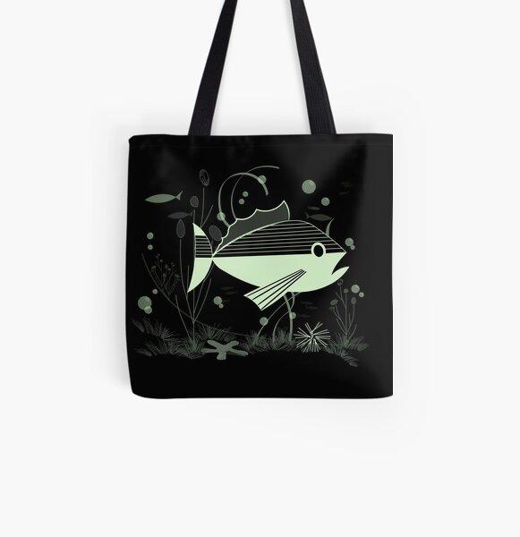 Atomic Fish #3 All Over Print Tote Bag