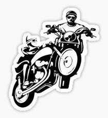 motorcycle guy Sticker