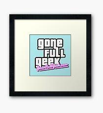 """GoneFullGeek """"GTA Vice City"""" Framed Print"""