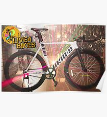 Unknown Singlulary Fixie BIke track Bicycle  Poster