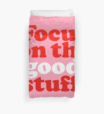 Focus On The Good Stuff {Pink & Red Version} Duvet Cover