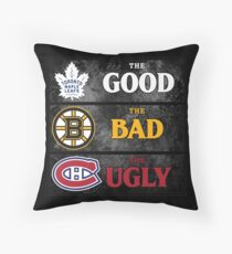 The Good, The Bad, The Ugly -- NHL Version Throw Pillow