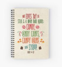 Buddy the Elf - The Four Main Food Groups Spiral Notebook