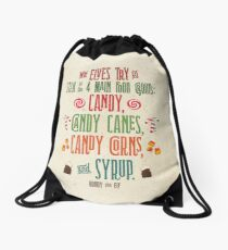 Buddy the Elf - The Four Main Food Groups Drawstring Bag