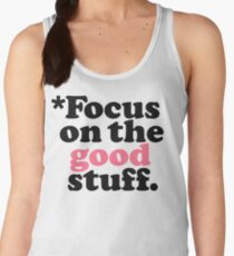 Focus On The Good Stuff {Pink & Red Version} Women's Tank Top