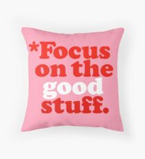 Focus On The Good Stuff {Pink & Red Version} Floor Pillow