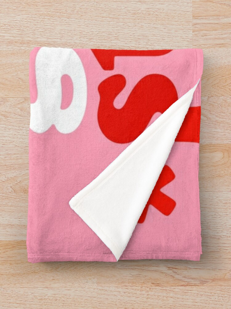 Alternate view of Focus On The Good Stuff {Pink & Red Version} Throw Blanket