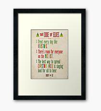 Buddy the Elf! The Code of Elves Framed Print