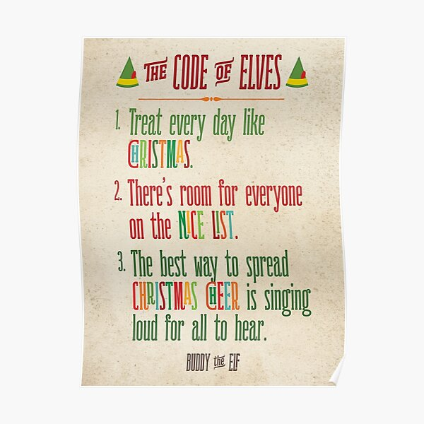 Buddy the Elf! The Code of Elves Poster