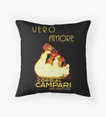 Cordial Campari Throw Pillow