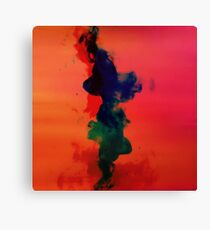 Cool ink flowing Canvas Print