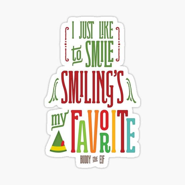 Buddy the Elf - Smiling's My Favorite! Sticker