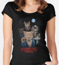 Strange Fur Things Women's Fitted Scoop T-Shirt