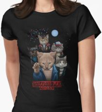 Strange Fur Things Women's Fitted T-Shirt