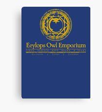 Owl Emporium Logo (yellow) Canvas Print