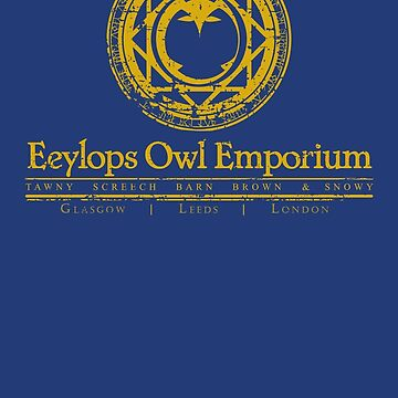 Owl Emporium Logo (yellow) by adamgamm