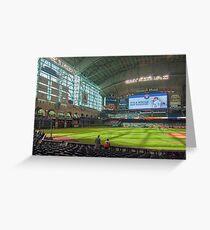 Astros Baseball Greeting Card