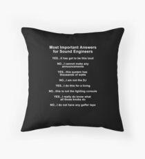 Sound Engineer's mantra ... white type Floor Pillow