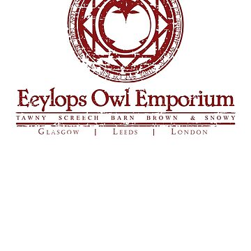 Owl Emporium Logo (red) by adamgamm