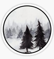 White Winter Sticker