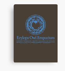 Owl Emporium (blue) Canvas Print